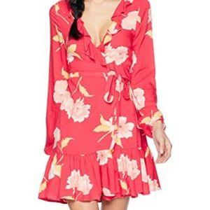 SOLD! Billabong Floral Wrap Dress.